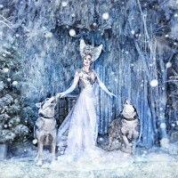 Снежная королева с 2 сибирскими хаски фото