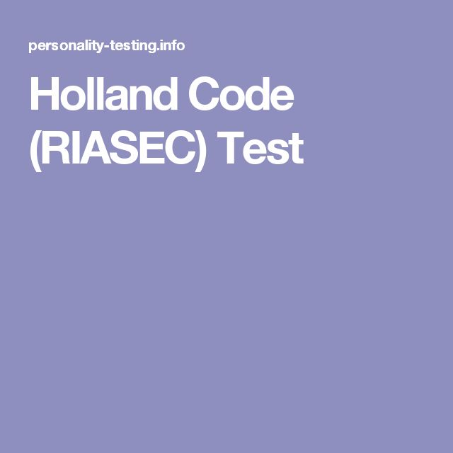 Holland Code (RIASEC) Test | Other Paths to Success ...