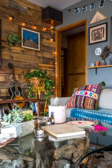 "Name: Lulu Brud Zsebe and Justin Zsebe Location: Los Feliz — Los Angeles, California Size: 2 Bedroom and 2 Bath Years lived in: 2.5 years - rent Lulu and her husband Justin are lucky to have found an apartment that suits their lifestyle—it's a space that has been passed on though the hands of friends for the past 13 years. They love the coziness, and have created a dwelling that invites their guests to feel at home. They truly believe that ""having a home that feels like a sanctuary is what…"