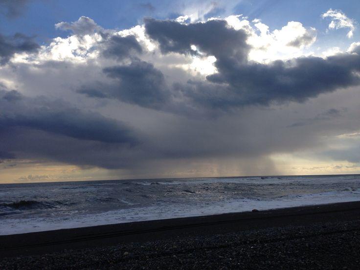 Mar pacífico costa IX región Chile