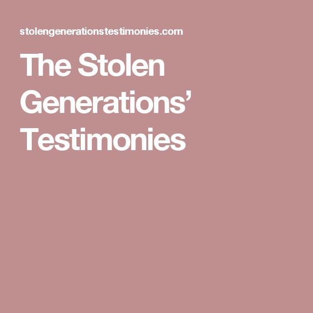 The Stolen Generations' Testimonies