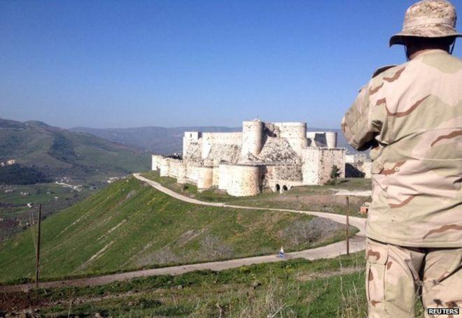 Syria Crusader castle Krak des Chevaliers has war scars - BBC