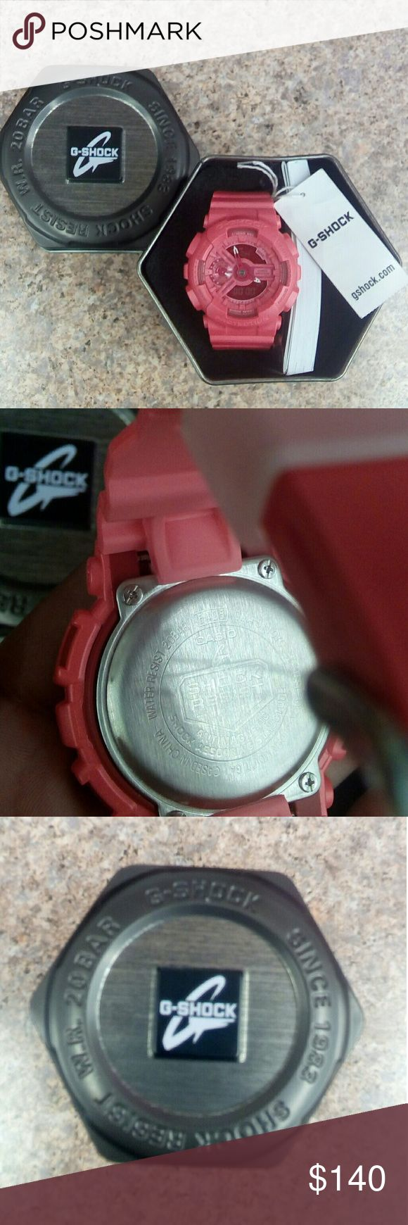 Unisex G-Shock Watch W/Tin Case Nwt Never worn Vibrant color. Brand new never worn still has tag and the tin case and manuel included. Great to have in your watch collection G-Shock Accessories