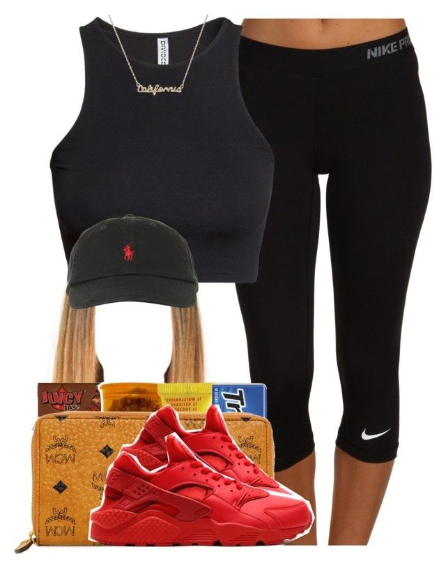 """""""933"""" by tuhlayjuh ❤ liked on Polyvore featuring NIKE, H&M, Polo Ralph Lauren, xO Design, Carmex and MCM"""