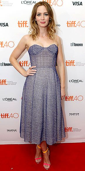 Every Fashion Moment You Need to See from the Toronto Film Festival | EMILY BLUNT | dons a Dior dress for the premiere of Sicario on Friday.