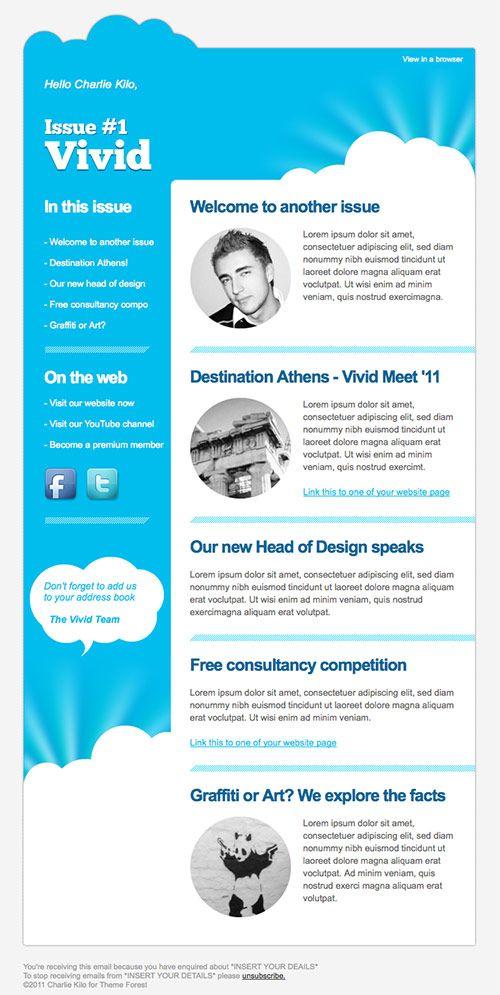 90 best newsletter design images on Pinterest Email newsletter - Newsletter Format