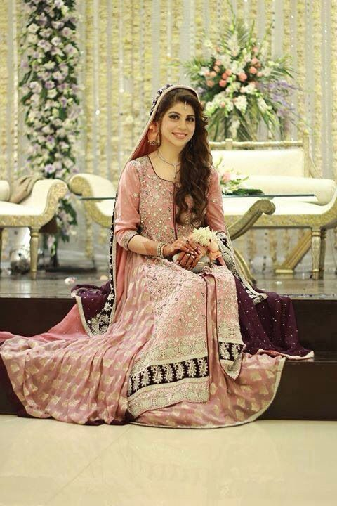 Rose pink reception dress