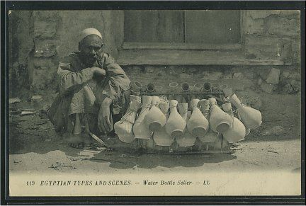 An Egyptian Water Bottle seller