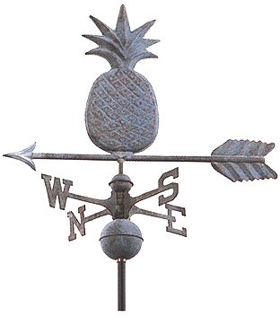 Weathervanes in the garden.
