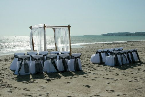 beach wedding arbors decorated | Southerncalweddings.com - Beach, Cliff & Ocean View Wedding Packages