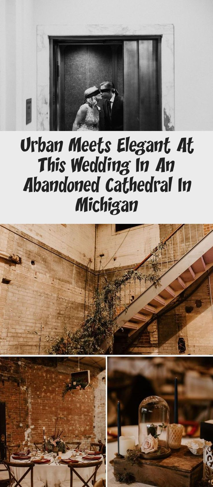 Urban Meets Elegant at this Wedding in an Abandoned Cathedral in Michigan - Green Wedding Shoes #BridesmaidDressesPlusSize #BridesmaidDressesDustyRose #BridesmaidDressesCountry #ChampagneBridesmaidDresses #AfricanBridesmaidDresses