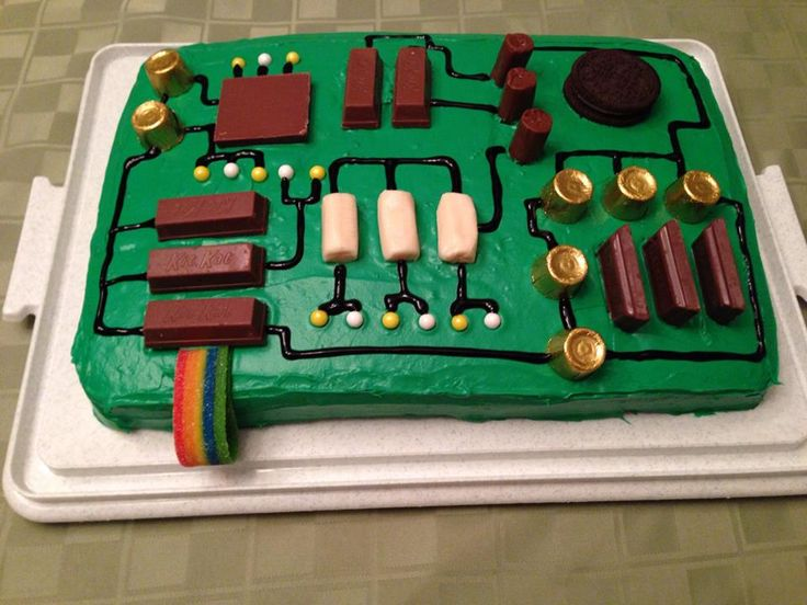 Computer Motherboard Cake
