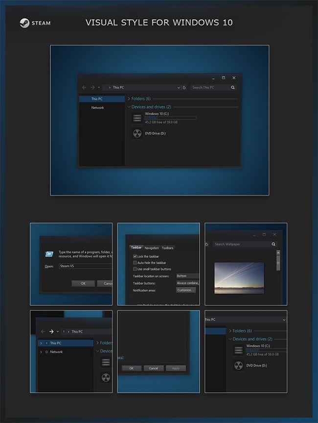 Steam-VS-Windows-10-Visual-Style