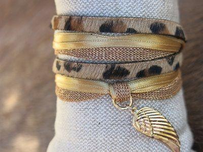 Bracelet Angel's léopard doré By Garance