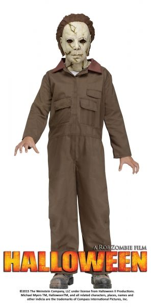Rob Zombie's HALLOWEEN Michael Myers Child Costume  This Officially Licensed Rob Zombie's Halloween is perfect to give your friends a fright!  Costume includes: Broiler Suit and Full Mask with Hair.