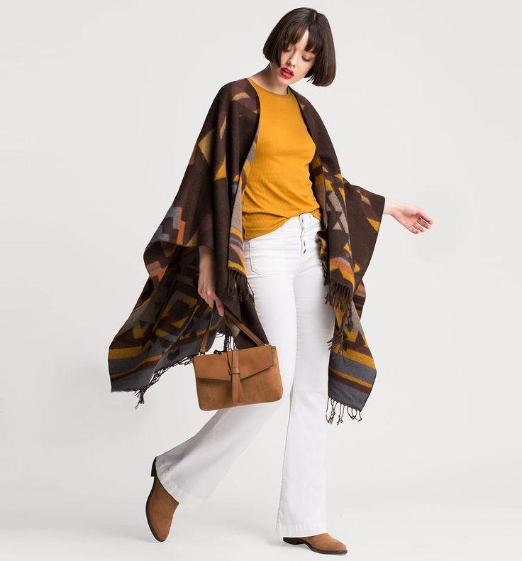 Damen Poncho in bunt - Mode günstig online kaufen - C&A    CLOCKHOUSE: Poncho aus 56 % Polyacryl 44 % Polyester; 19 Euro (Stand Oktober 2016)