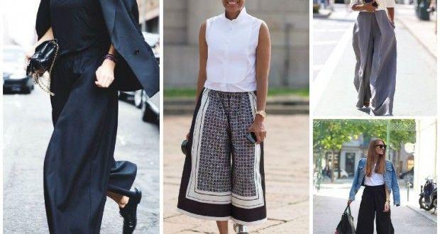 İlkbahar / Yaz 2015 Moda Trend; Geniş paça pantolon etekler | Kadinveblog