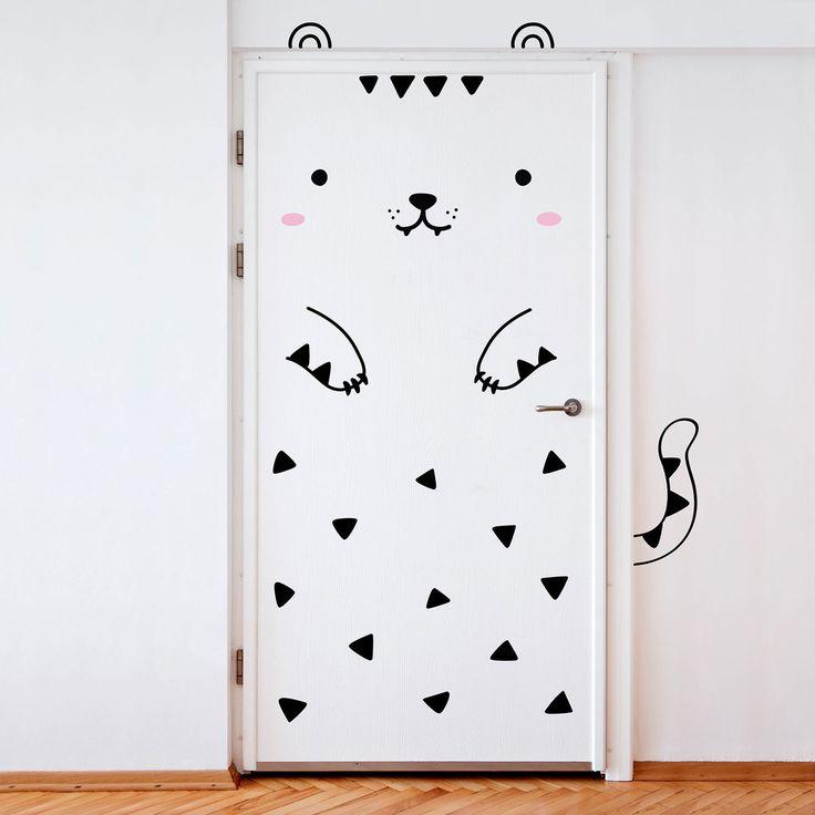 Sticker porte - Tofu le tigre