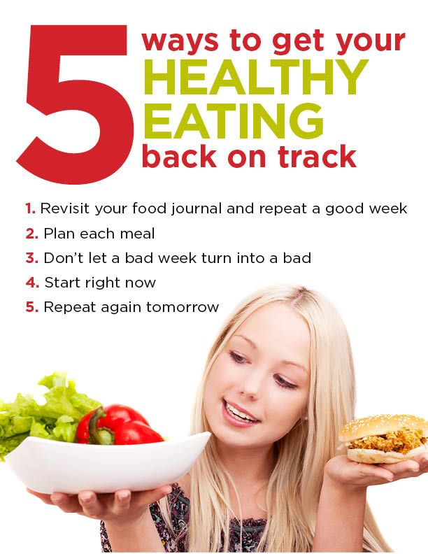 5 tips to get your healthy eating back on track
