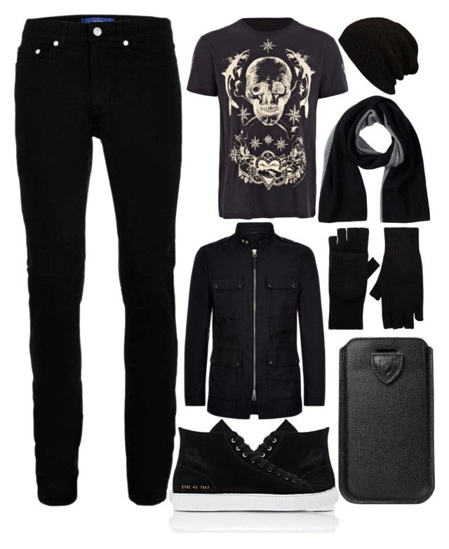 My Boyfriend style :3 by slytheriner on Polyvore featuring Alexander McQueen, Wood Wood, Tom Ford, Common Projects, Portolano, Helmut Lang, Aspinal of London, men's fashion and menswear