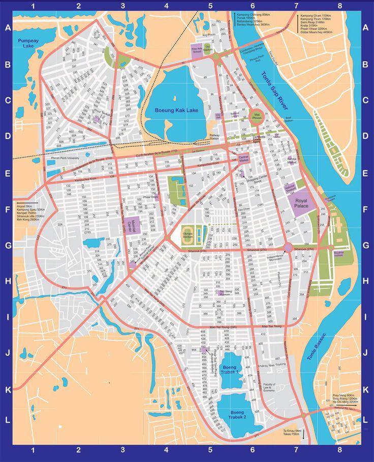 Map Cambodia - Phnom Penh