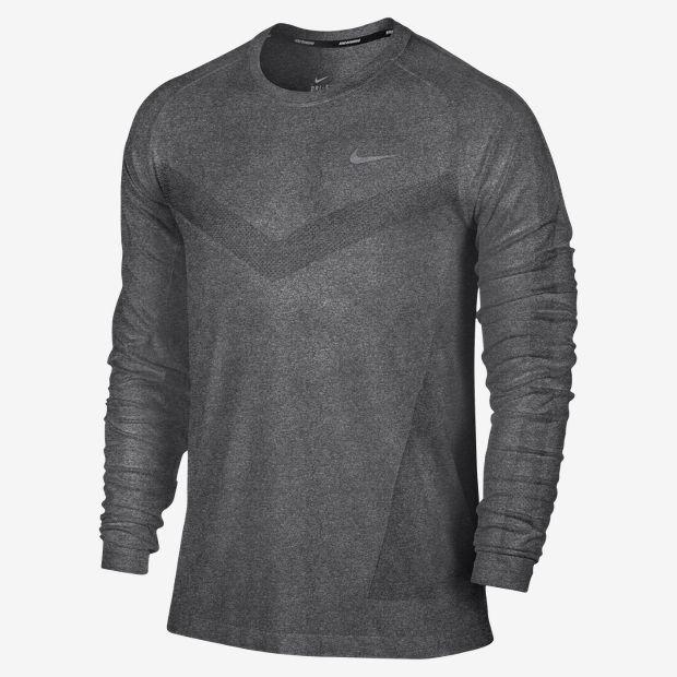 Nike Dri-FIT Knit Long-Sleeve Men's Running Shirt ...