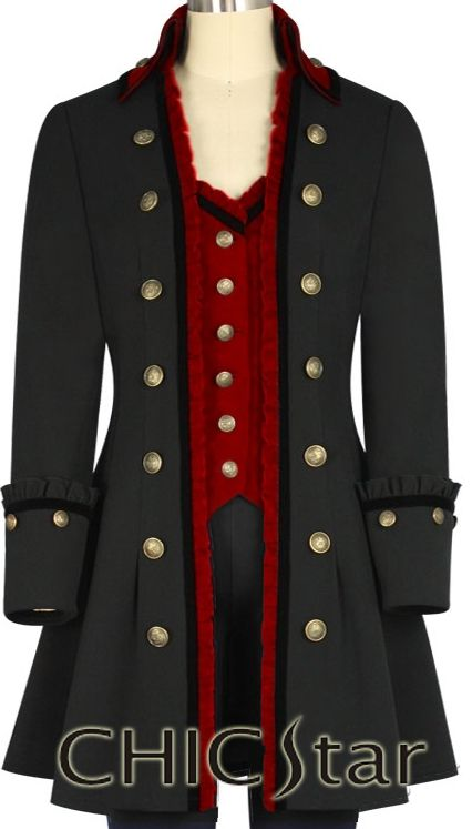 ChicStar Victorian Coat  design by Amber Middaugh and Jennie Rage  standard size $71 .00 plus size $81.00 or Wholesale (see sight for pricing)