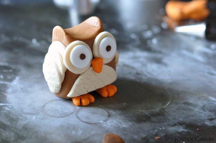 How to make a sugarpaste / gumpaste owl