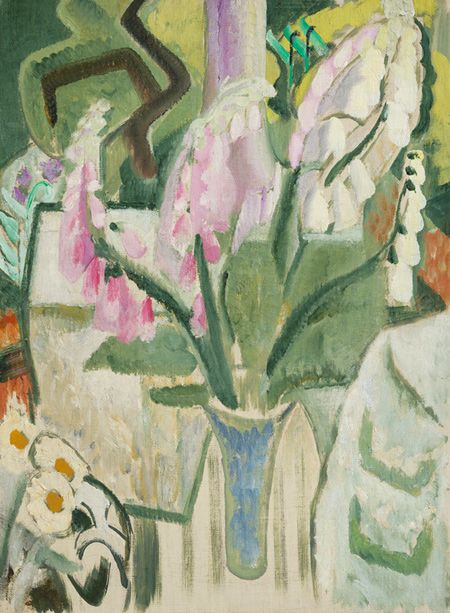 Ivon Hitchens Foxgloves circa 1932 oil on canvas estate stamp verso 27 x 20 in / 68.5 x 51 cm http://www.jonathanclarkfineart.com/index.php/component/zoo/category/ivon-hitchens