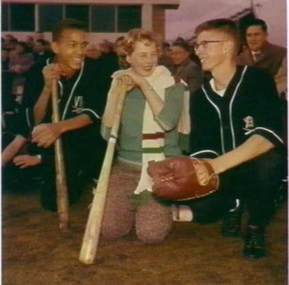 Visiting American newsboys demonstrate baseball during a visit to Sydney, 1961. From the collections of the Mitchell Library, State Library of New South Wales : http://www.acmssearch.sl.nsw.gov.au/search/itemDetailPaged.cgi?itemID=146605