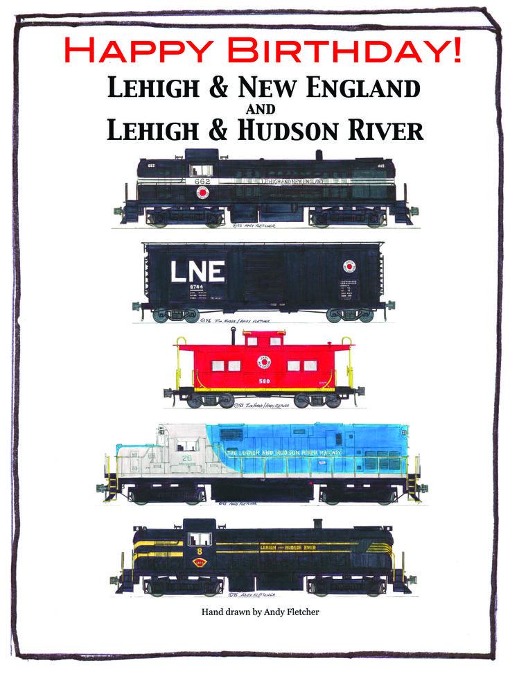 Birthday Postcard for Lehigh & New England, Lehigh Hudson River # ...