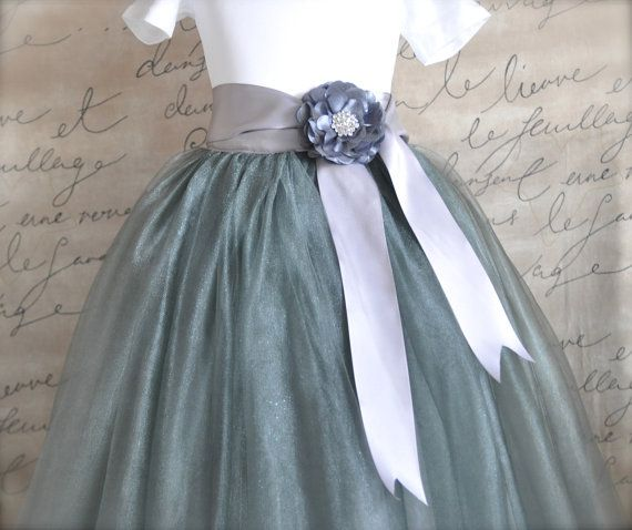 Dark grey lined tutu Flower Girl This is a by TutusChicBoutique, $135.00