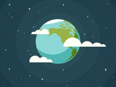 Flat Earth Scene