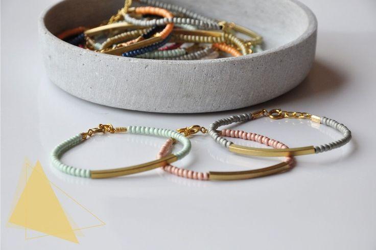 Perlen+Armband+Tube+Geometrisch+minimalistisch+von+State+of+A+auf+DaWanda.com