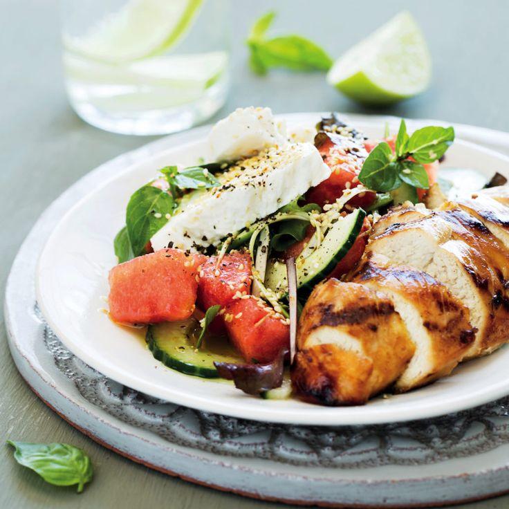 Thai chicken and watermelon salad - MyKitchen