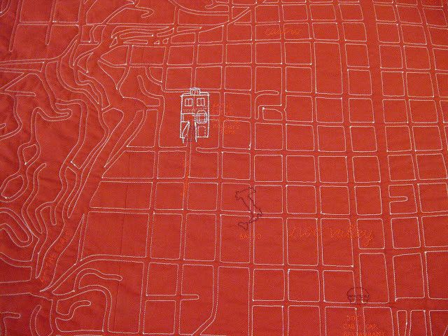 San Francisco Map Quilt Kit