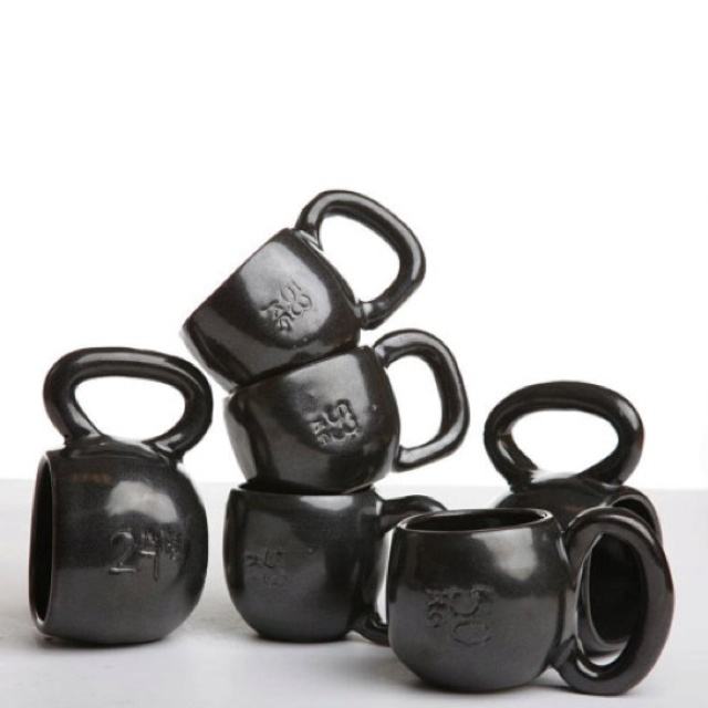 Kettlebell mugs from Etsy!