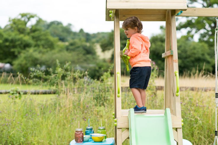 PLUM INDRI WOODEN CLIMBING FRAME  Add a little imagination and Plum's Indri Wooden Play Centre is ready for its maiden sailing.   Enjoy a picnic below deck, then clamour up the platform to steer the boat to safety.  Constructed from tough natural timber, Plum's Indri Wooden Climbing Frame is designed to withstand adventurous play from little explorers.