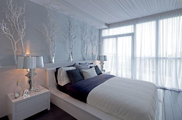 Snow white Stylish #bedroom