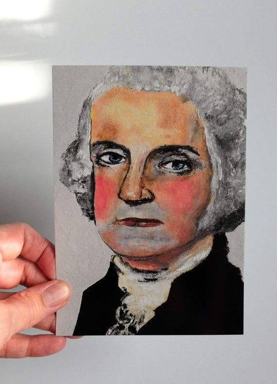 Original art postcard print  GEORGE by IsabellaDiSclafani on Etsy