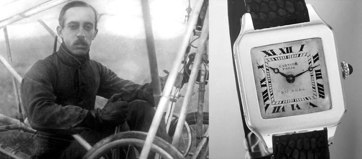 Santos Dumont y el primer reloj pulsera de la historia por Cartier. 1904