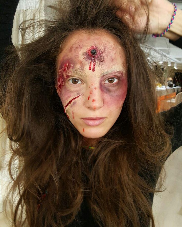 Brasov Beauty Lounge -Halloween makeup Dan Aron Cristina Camarzan