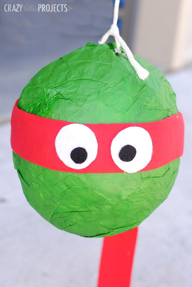 Teenage Mutant Ninja Turtles Pinata (Make it yourself!)