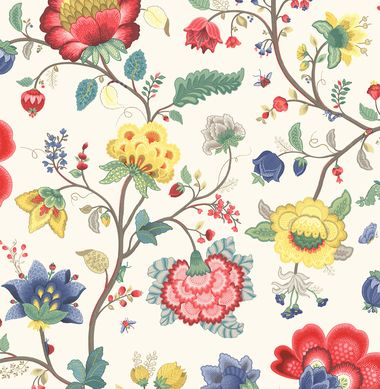 Epona Cream Floral Fantasy 341030 Wallpaper