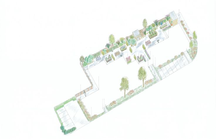 3D design for the garden for elderly and patiens with dementia. Designed by Rieky Calis at JUKA Tuindesign.