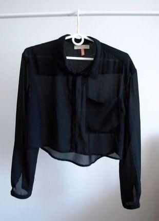 #koszula #czarnakoszula #bershka #modna #mgiełka #vintedpl http://www.vinted.pl/damska-odziez/koszule/15674964-koszula-czarna-krotka-asymetryczna-przeswitujaca