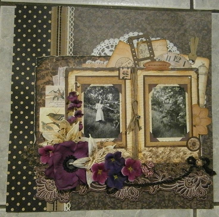 Vintage Heritage Scrapbook Layout