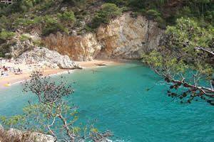Cala Pola Tossa de Mar, Costa Brava, Gerona, España.