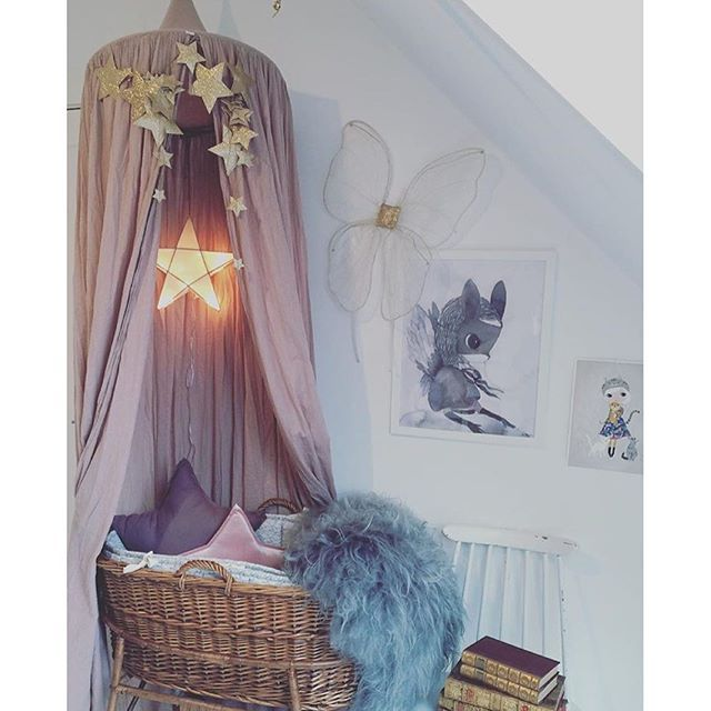 Ah! We\'re drooling over this space styled by our customer @mreiness . It\'s filled to the brim with @numero74_official goodness. We have 1 dusty pink canopy and two star lanterns left in stock. Our next re stock isn\'t until March , go! ✨ #numero74 #kidsinterior #nursery