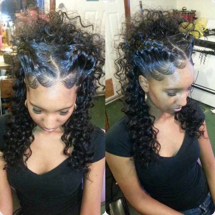 Goddess braid updo
